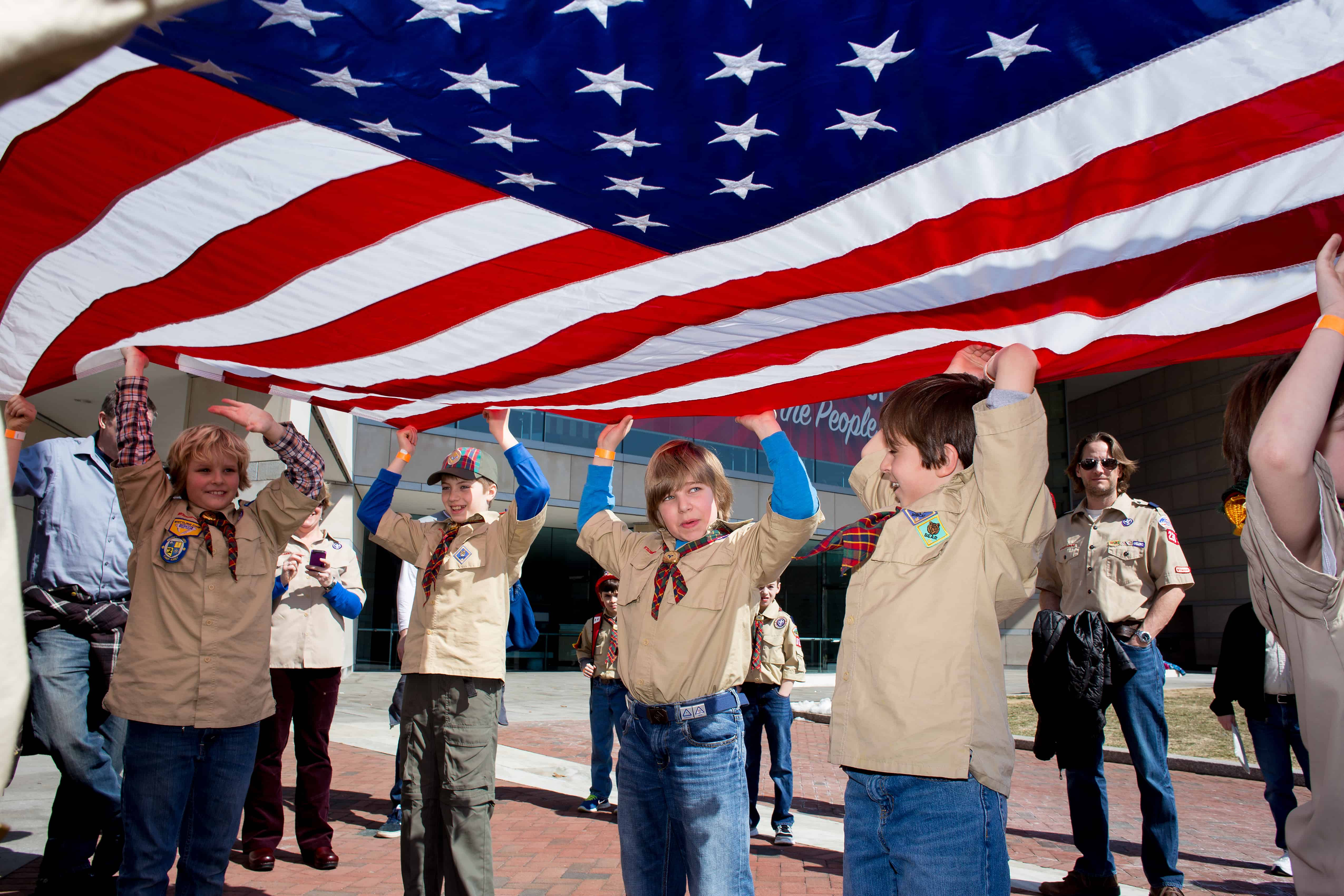 Scouts at National Constitution Center