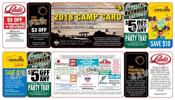 Camp Cards Cradle Of Liberty Council