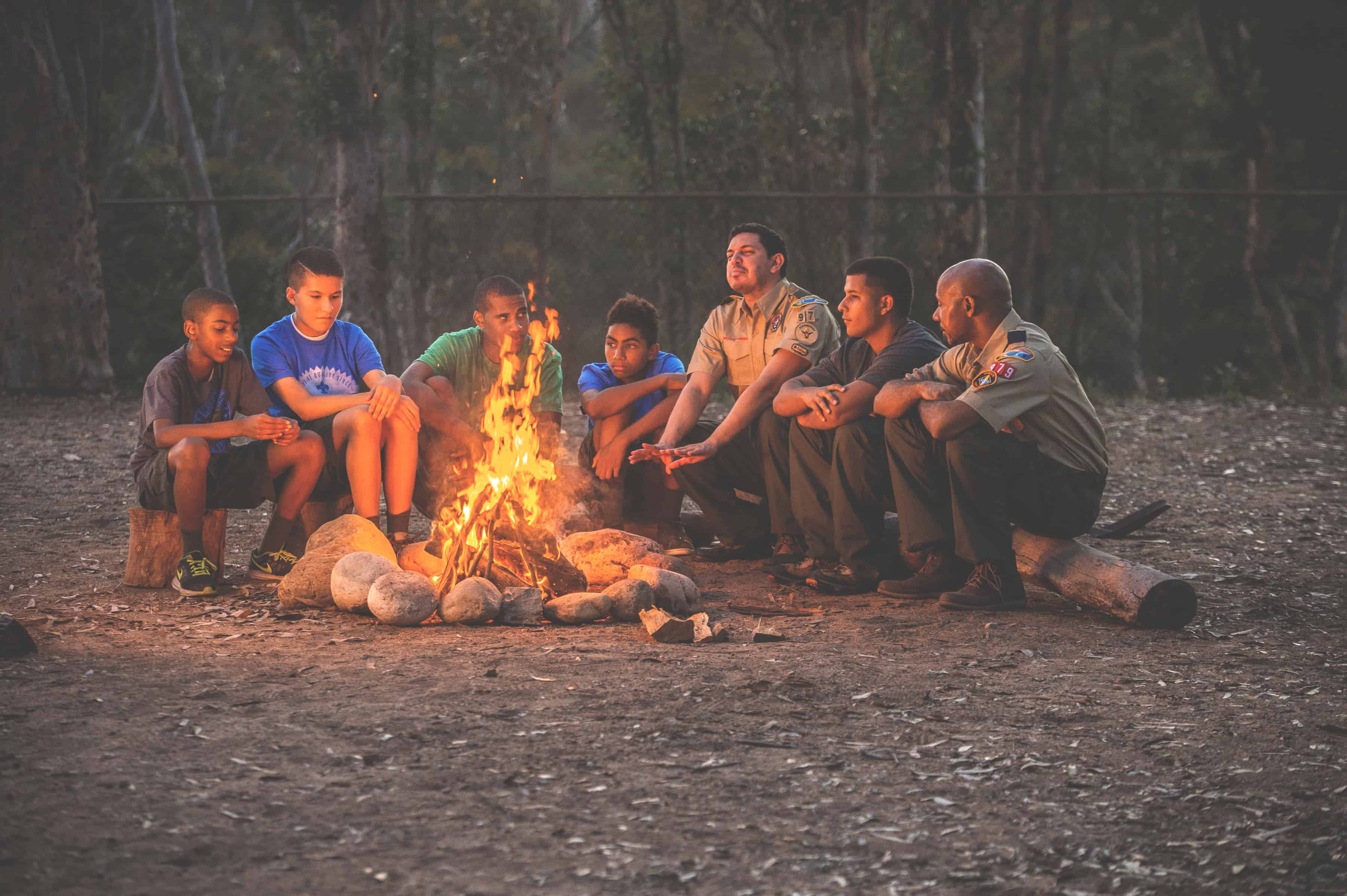 how to build a campfire boy scouts