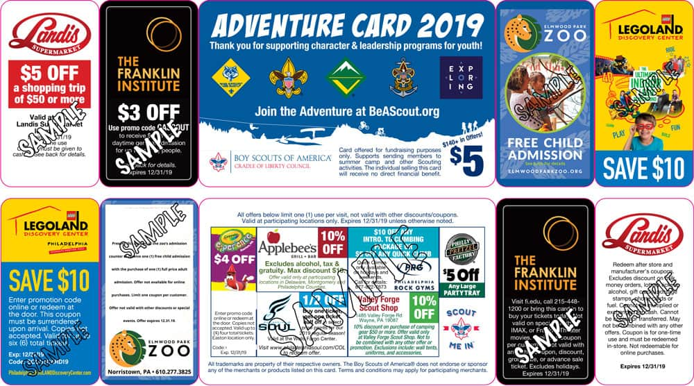 Adventure Card Fundraiser - Cradle of Liberty Council